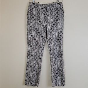 Chico's Black & White Hippie Print Pants - 10